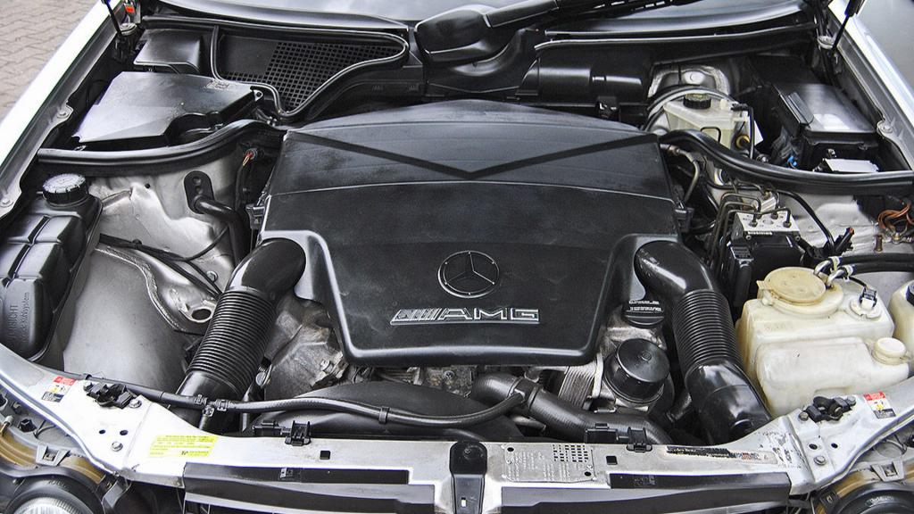 Michael Schumacher's Mercedes-Benz E55 AMG Engine Bay