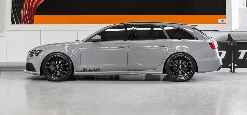 Nardo Grey Audi RS6 Side profile with Tekno Sticker