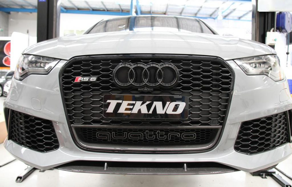 Nardo Grey Audi RS6 with Black Badge and Tekno Branding