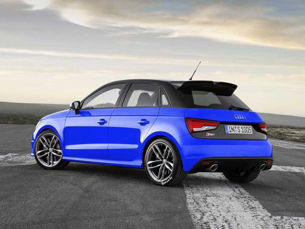Audi RS1 Concept in Blue with Oval Exhaust