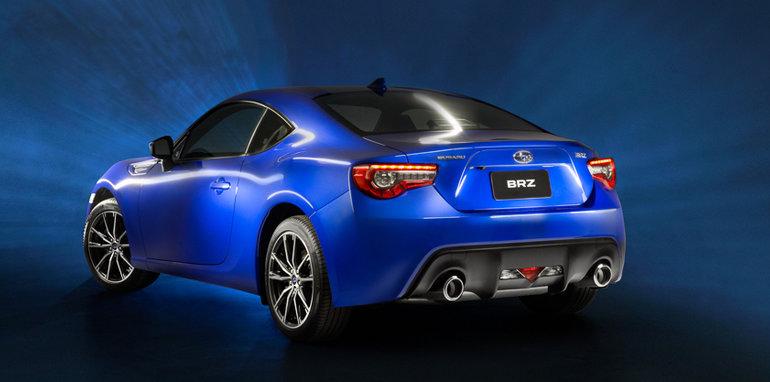 Blue Subaru BRZ Twin Exhaust