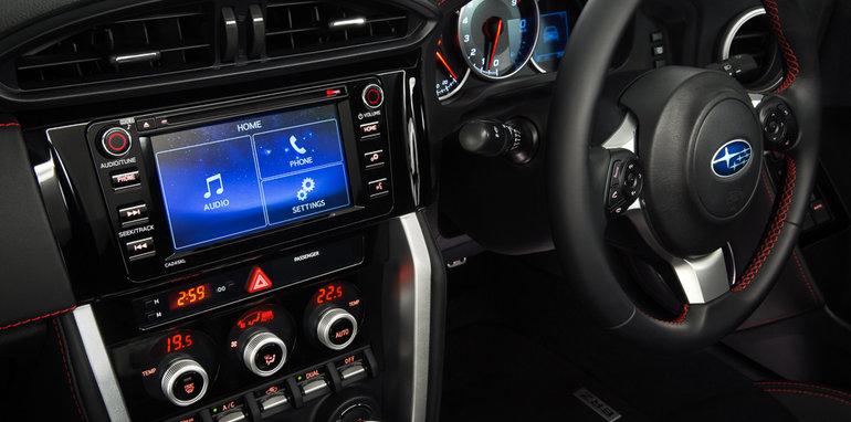 Subaru BRZ Interior with Sat Nav