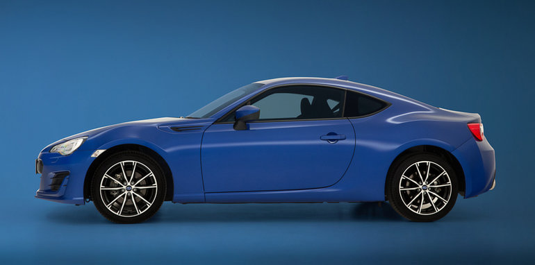 Blue Subaru BRZ Side Profile