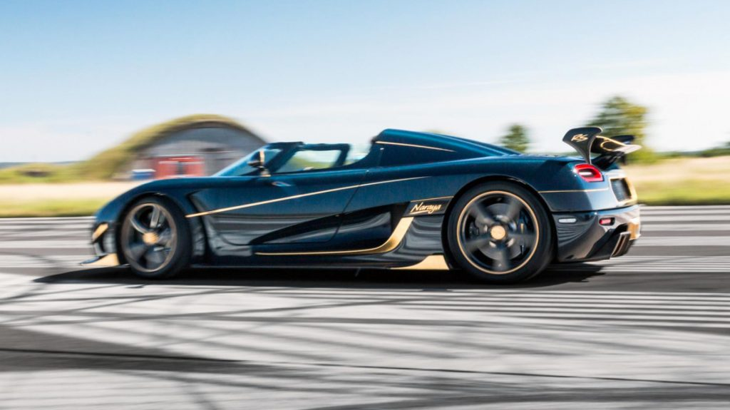 Koenigsegg Agera RS 'Naraya' Side Profile on race track
