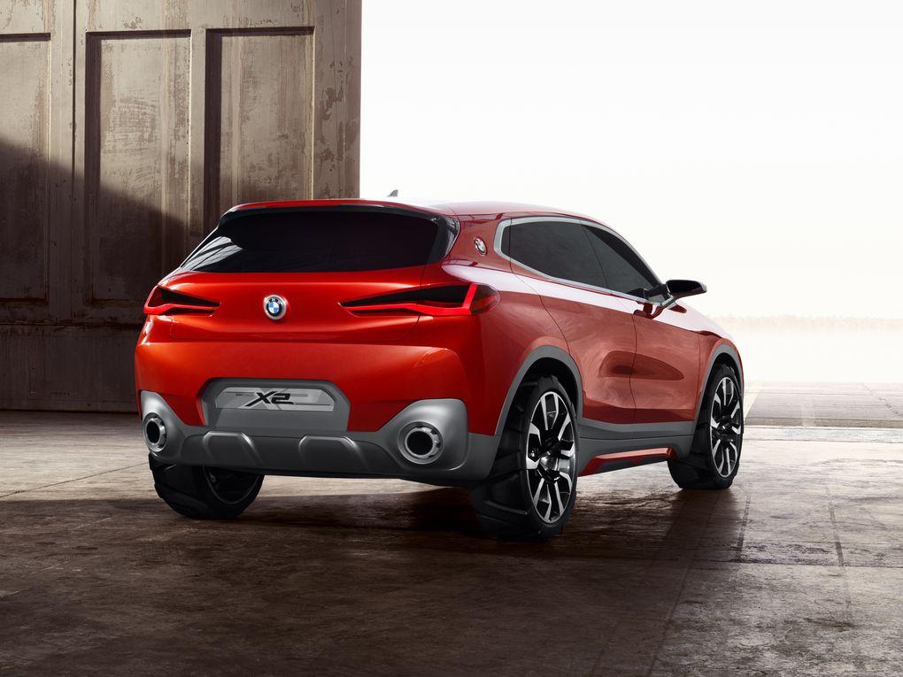 Red 2018 BMW X2 Rear