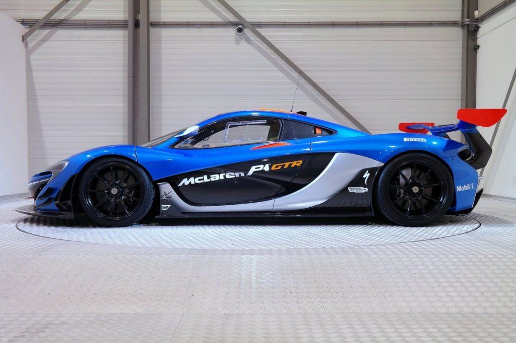 Mclaren P1 GTR in Blue Side Profile