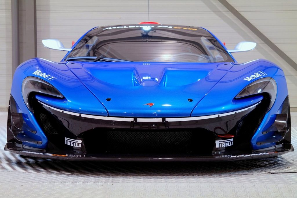 Mclaren P1 GTR in Blue Front Angle