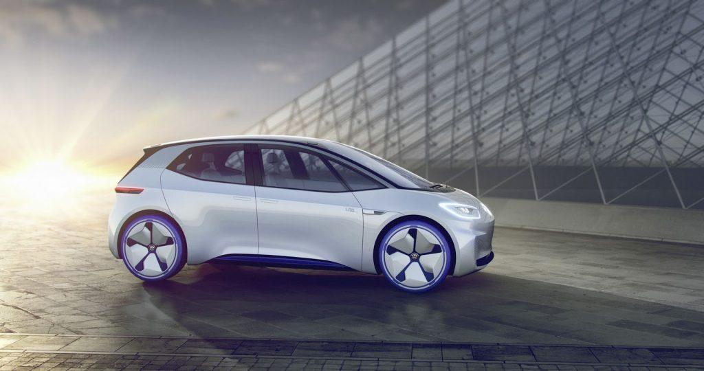 Volkswagen I.D. Concept Electric Car Side Profile