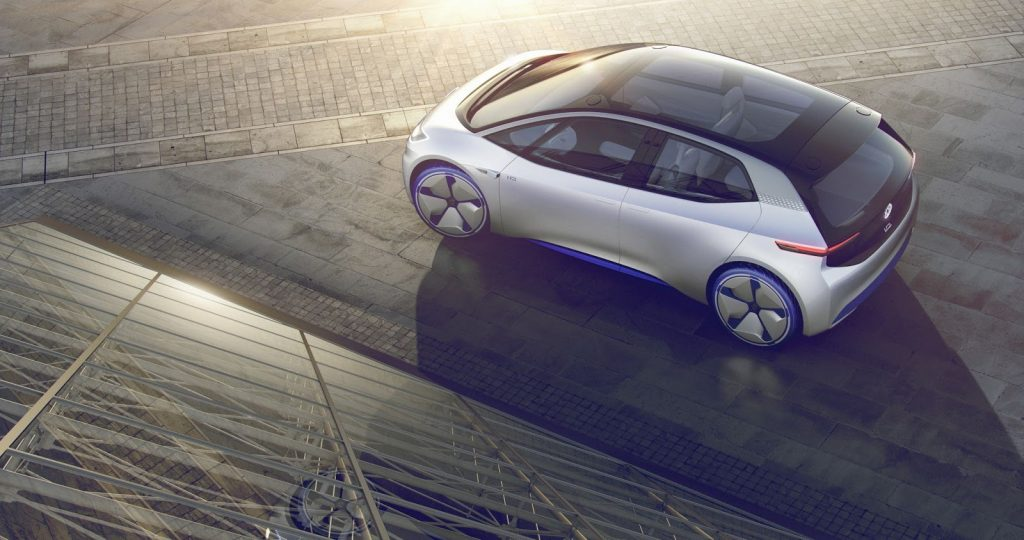 Volkswagen I.D. Concept Electric Car Top Angle