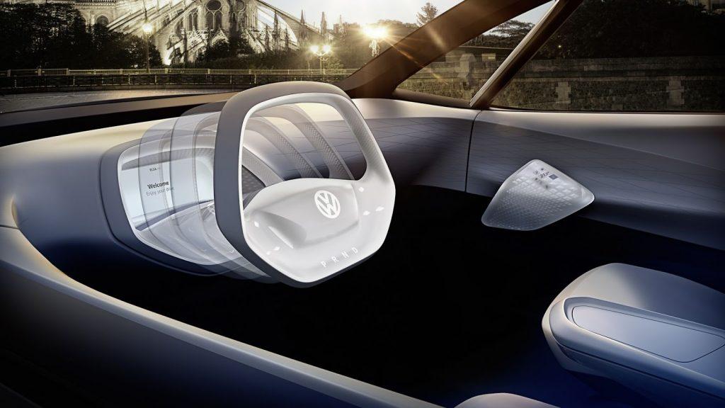 Volkswagen I.D. Concept Electric Car futuristic interior