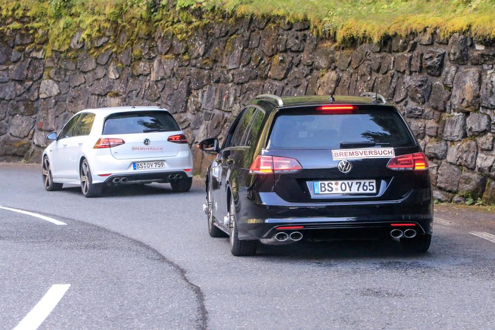 2017 Volkswagen Golf R and Golf R Wagon Driving Mountain Pass Road