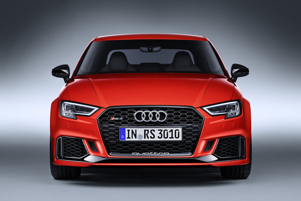 catalunya red Audi RS3 Sedan front