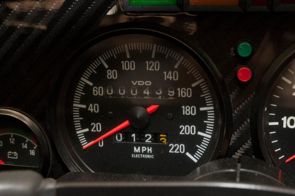 Jaguar XJR-15 Speedometer with 439miles