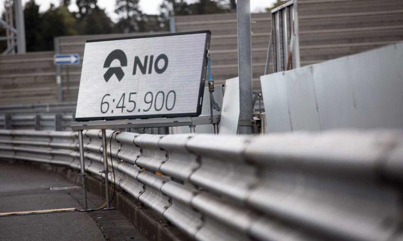 NIO EP9 Nurburgring Lap Record time of 6:45.900