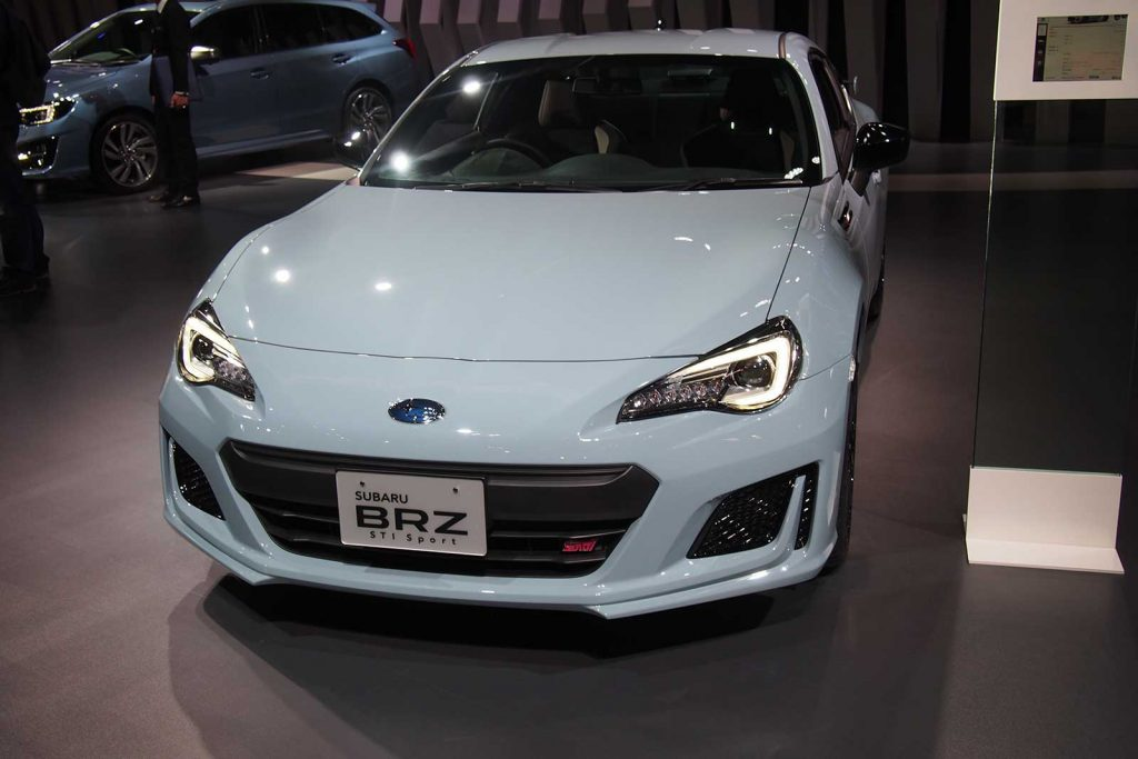 Subaru BRZ STI in Baby Blue Front Angle