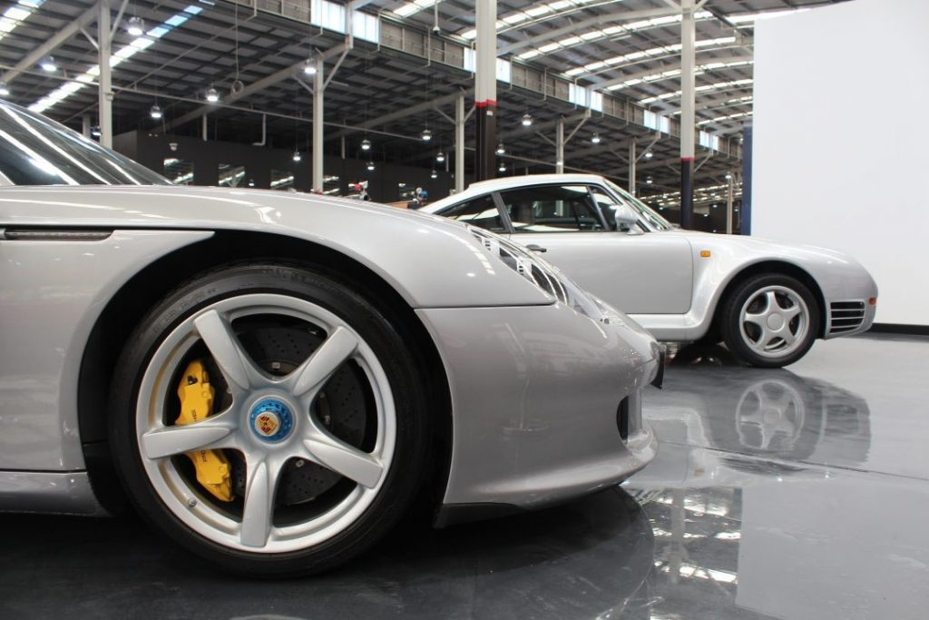 Porsche Carrera GT Ceramic Brakes and Yellow Brake Calipers