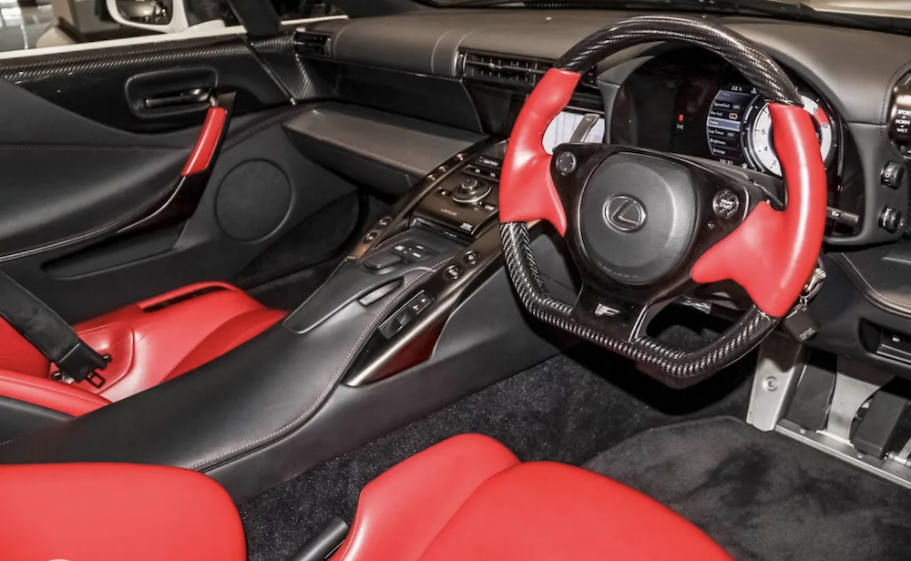 Lexus LFA For Sale in Australia — Interior Photo with Red Upholstery