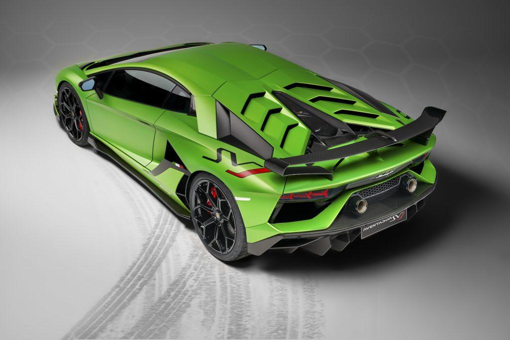 Lamborghini Aventador SVJ Rear Angle