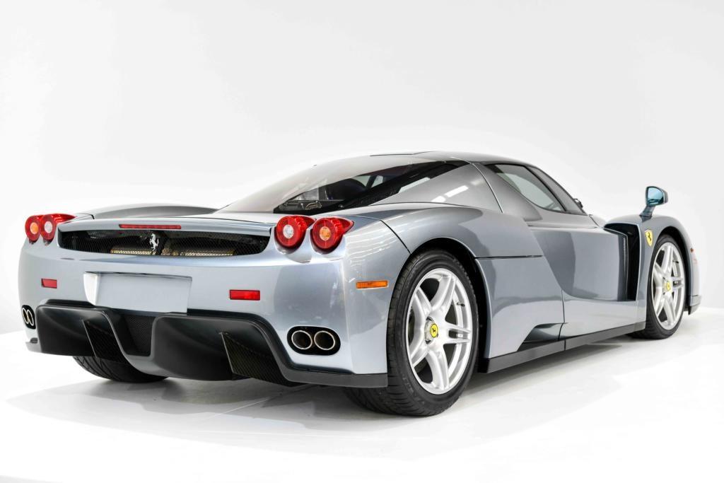 Silver Ferrari Enzo Rear End with quad exhausts