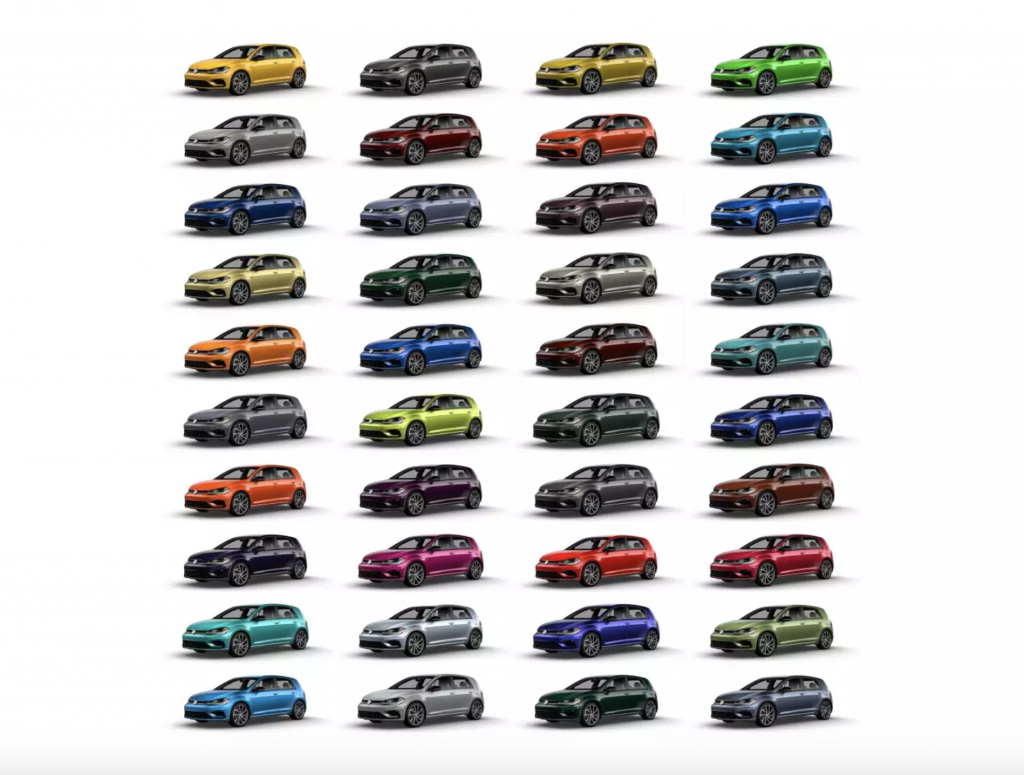 2019 Volkswagen Golf R Colour Options