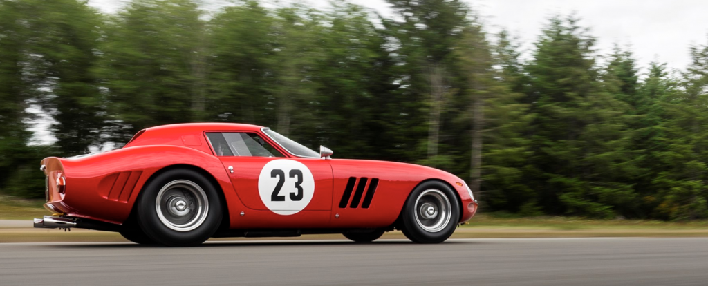 Ferrari 250 GTO Pebble Beach Side Profile Driving
