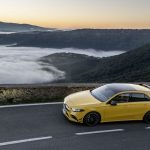 AMG A35 driving mountain road
