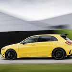 AMG A35 side angle driving on public road