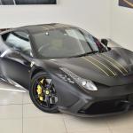 Ferrari 458 Speciale Matte Black top angle