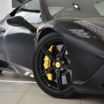 Ferrari 458 Speciale Matte Black ceramix brakes with yellow calipers