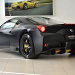 Ferrari 458 Speciale Matte Black rear quarter