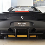 Ferrari 458 Speciale Matte Black rear angle with twin exhausts