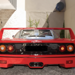 Red Ferrari F40 rear end