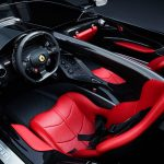 Ferrari SP interior with red leather seat