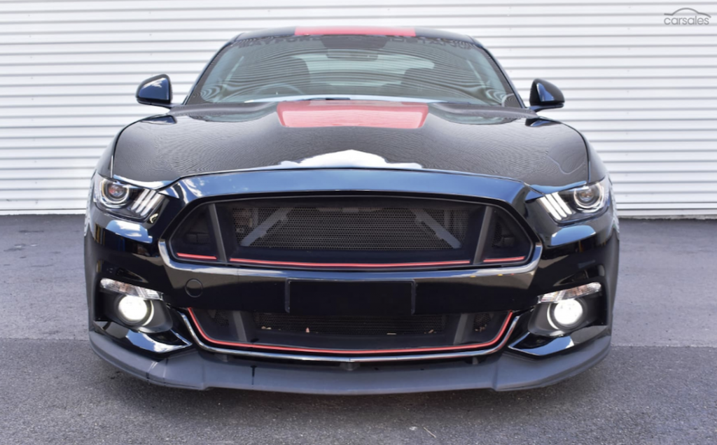 900HP Ford Mustang front angle intercooler