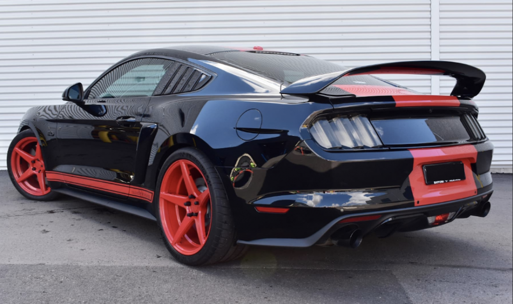 900HP Ford Mustang rear angle