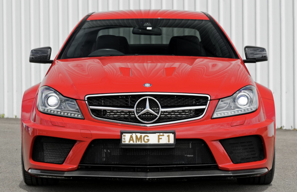 Mercedes C63 Black Edition front
