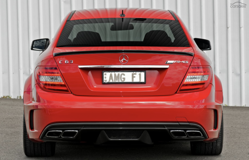 Mercedes C63 Black Edition rear