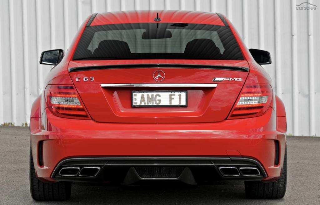 Mercedes C63 Black Edition rear
