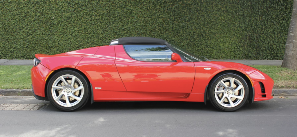 Tesla Roadster Sport Australia for Sale in Red side profile