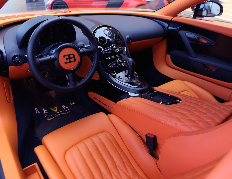 Bugatti Veyron Australia interior