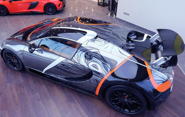 Bugatti Veyron Australia top angle