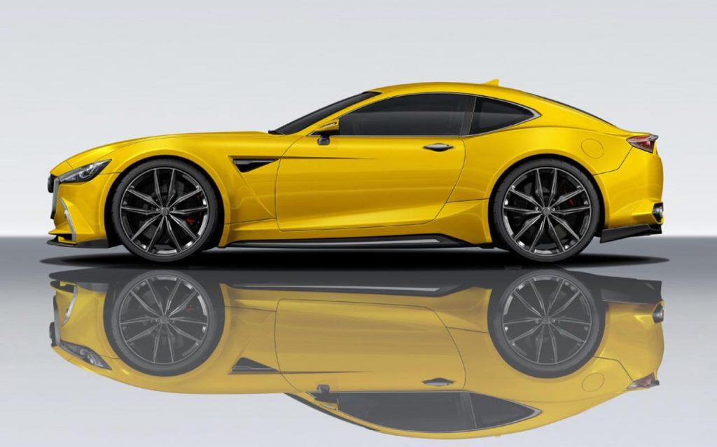 Mazda RX9 Concept Yellow Side Profile