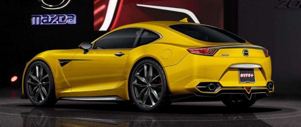 Mazda RX9 Concept Yellow Rear