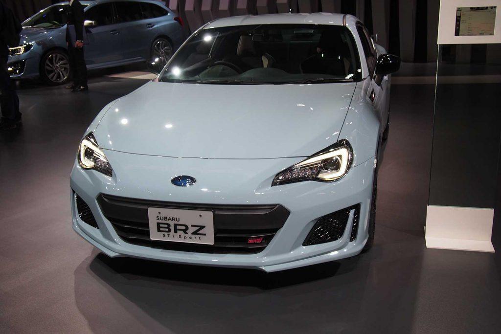 Subaru BRZ STI in Baby Blue Front Angle
