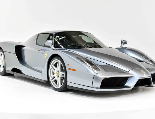 Silver Ferrari Enzo with Silver Wheels and White Background