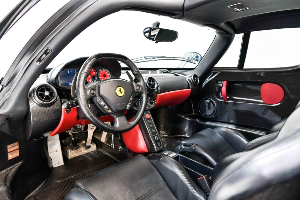 Ferrari Enzo Interior with black leather and red accents