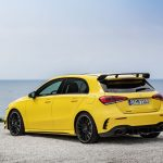 AMG A35 rear angle parked by the sea