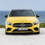 AMG A35 front angle by the sea