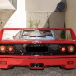 Red Ferrari F40 rear end