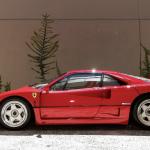 Red Ferrari F40 side profile
